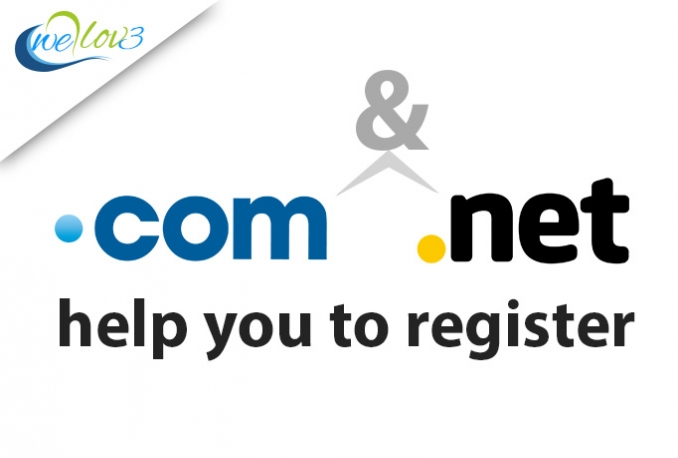 help you register a dot COM or dot Net Domain Name