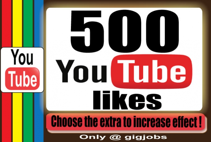 Get manually 500+ likes for your YouTube Video to improve Social Media and SEO Ranking