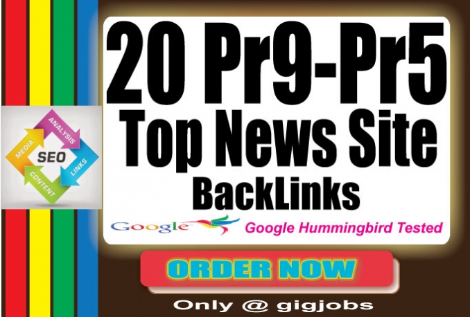 manually 20 High Authority PR9 News Sites Profile BackLinks SEO Technique 2015