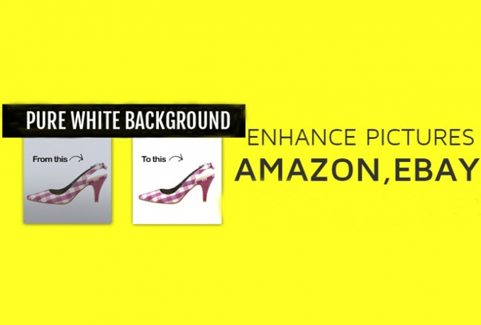 enhance pictures for Amazon Ebay in 24H