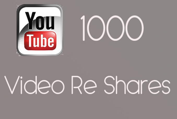 give you 1000 Re Shares on your YouTube video