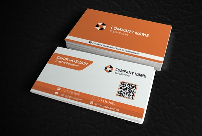 design OUTSTANDING double sided business card