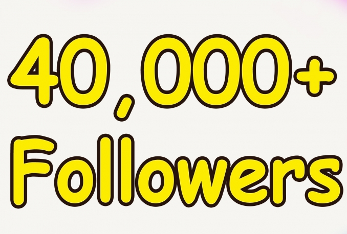 Add Real Quality 40,000 Twitter Followers to your Profile