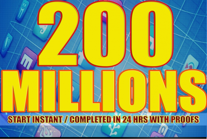 Promote your site Or anthing with 200,998,608 (200 MILLIONS)  Active facebook fans