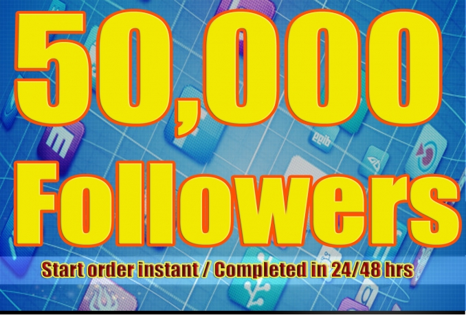 Gives you 50,000+ Stable/NON Drop/Fast Followers.