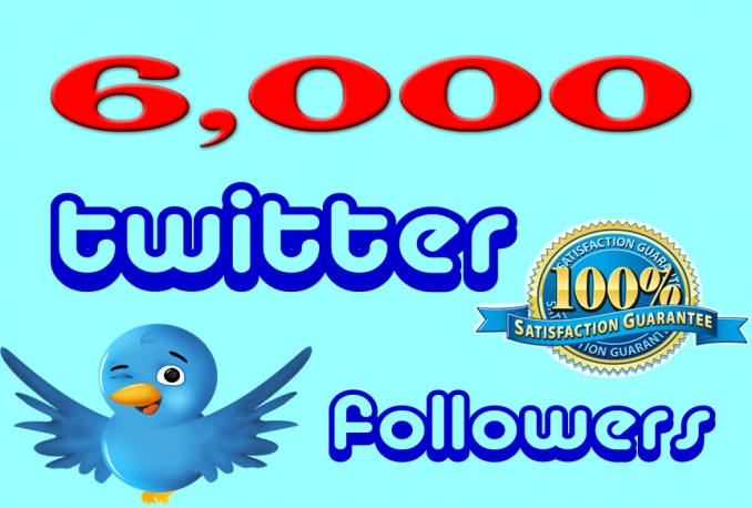 Give you fast Non Drop 6000+ twitter followes Instant with in 24hrs