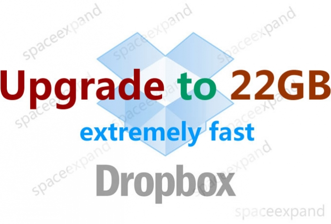 upgrade dropbox to 22GB