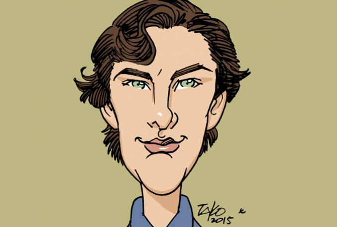 draw a color caricature from your photos