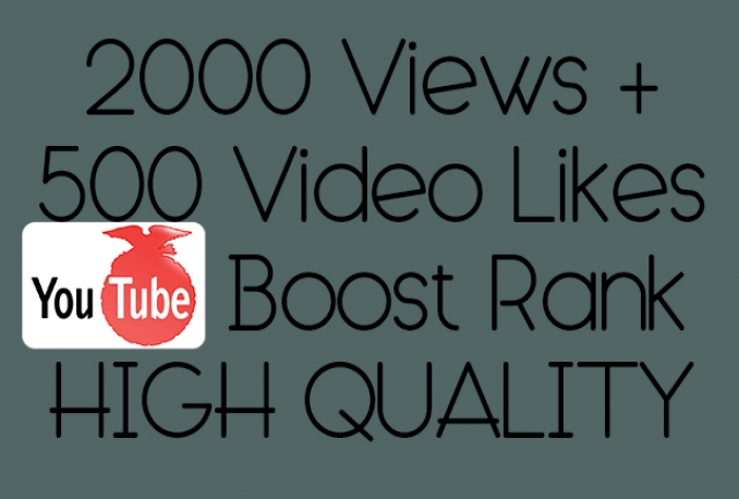 2000youtube video views + 500 video likes best price for High Quality youtube views | Bargin low price and boost ranks for a low cost Purchase now wile its on sale for this low price