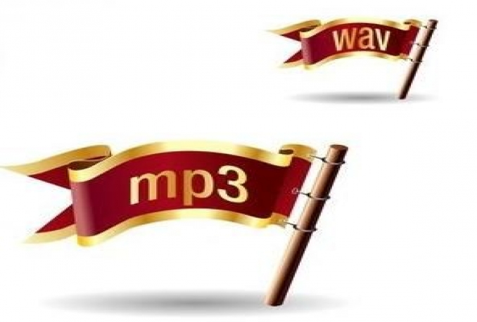 convert your wav file to an mp3 file