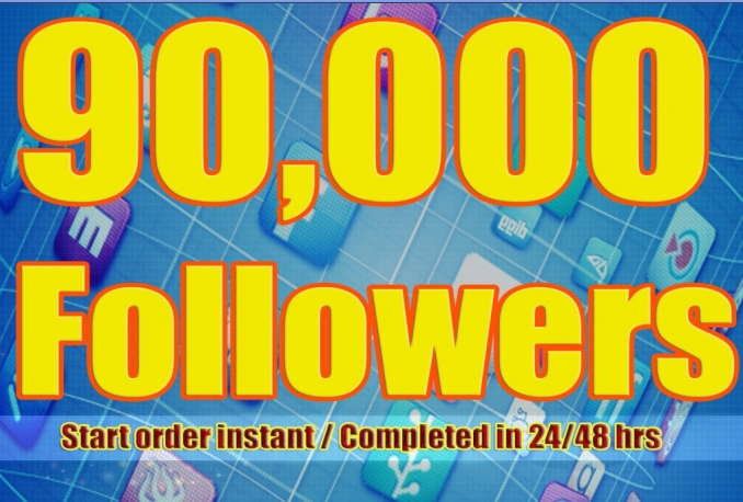 Twitter 900,000+Stable/NON Drop/Fast Followers.