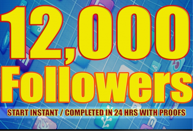 Twitter 12,000+Stable/NON Drop/Fast Followers.