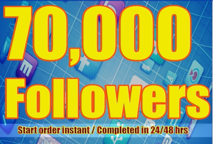 Twitter 70,000+Stable/NON Drop/Fast Followers.