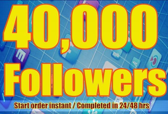 Twitter 40,000+Stable/NON Drop/Fast Followers.