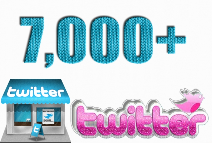 Add Real Quality 7,000 Twitter Followers to your Profile