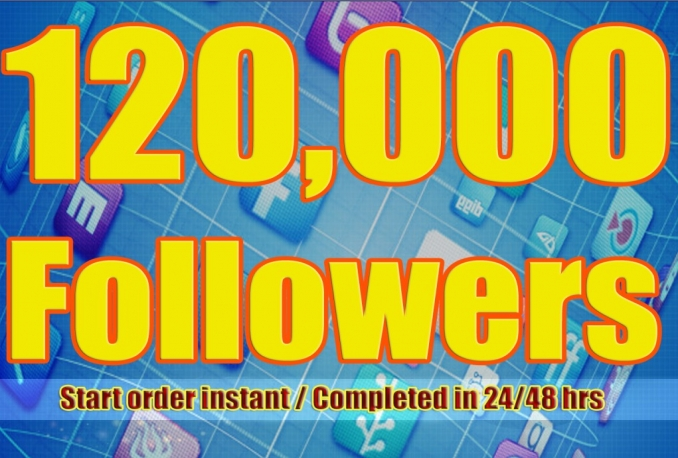 Twitter 120,000+Stable/NON Drop/Fast Followers.