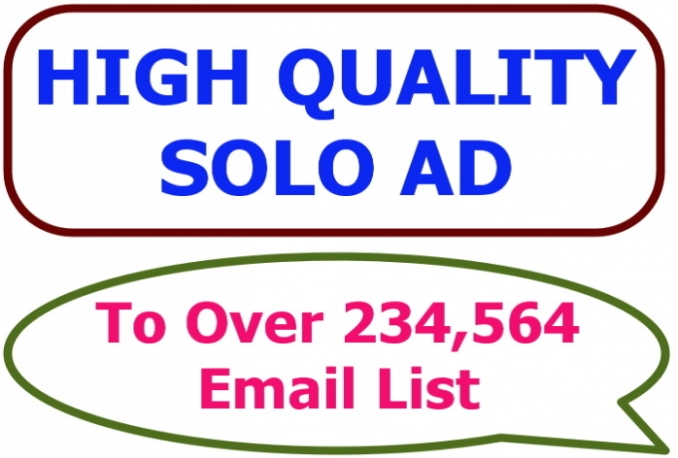 blast Your SOLO ads To My 234,564 Email List