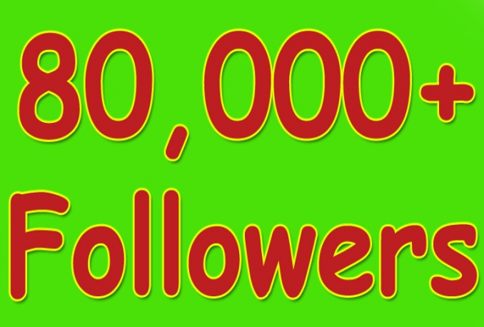 Gives you 80,000+Guaranteed Twitter Real Followers.