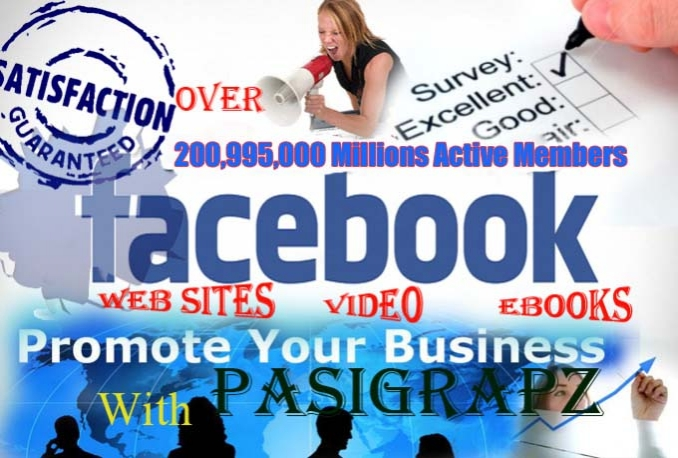 Promote your site Or Anything with 200,998,608 (200 MILLIONS)  Active facebook fans