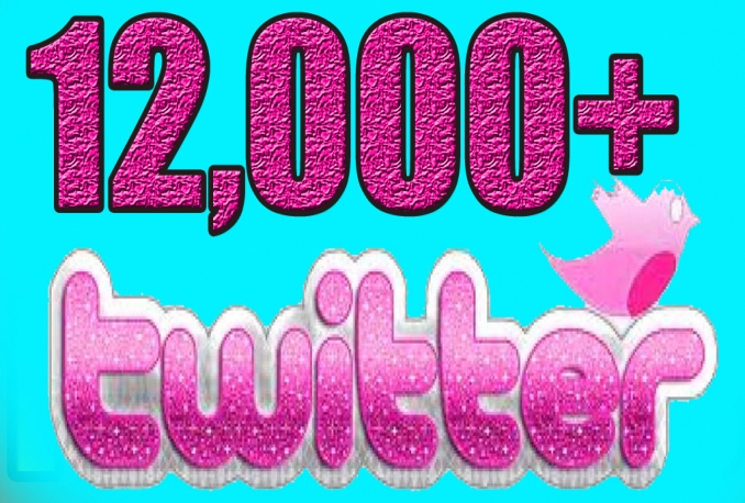 Add Real Quality 12,000 Twitter Followers to your Profile