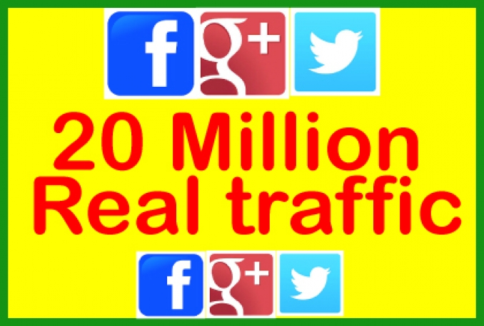 Promote 20 Million Real People on Facebook,Twitter,Google Plus For your Business/Website/Product or Any Thing You Want