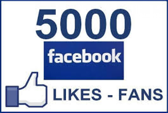 give you 5000 facebook fan page like only