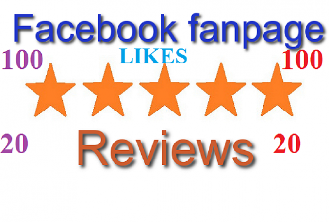 provide 100 Facebook Fan page likes 20 star Reviews