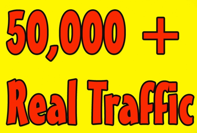 i will gives you 50,000 real and HQ traffic to your website .