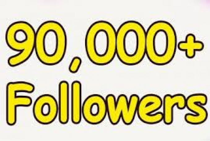 Provide You 90,000+ Real/Human/Unique/Active Twitter Followers 100% Safely.