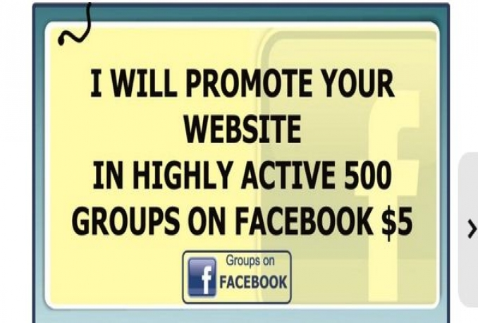promote Your message in Highly 500 Groups FB