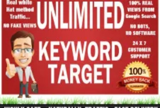 send Keyword Targeted unlimited Traffic with low BOUNCE rate