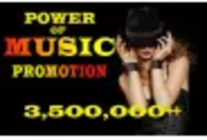 promote music with 2,500,000 users and 100k music lovers on FB