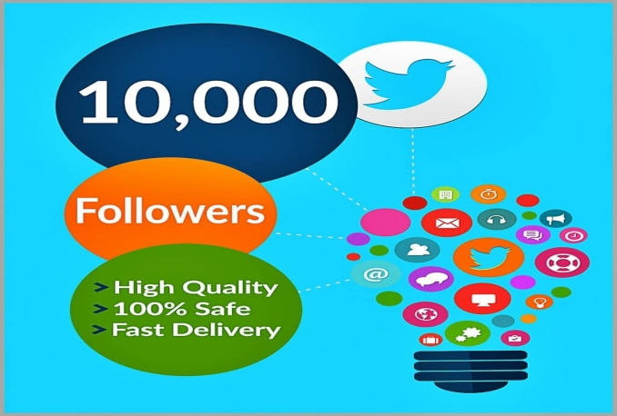 give you 10000+ HQ Non Drop Twitter followers
