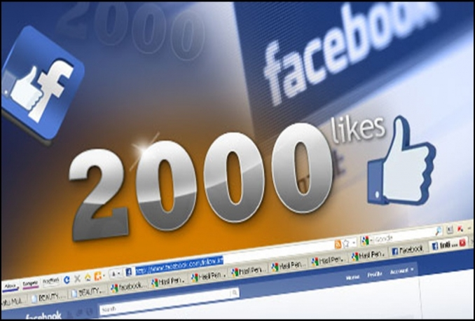 give you Real 2000+ Facebook Likes 100% Non Drop Guaranteed