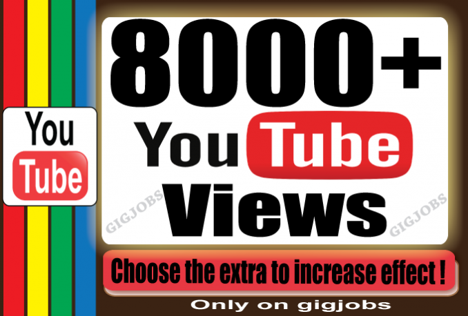 Send 8000+ High Retention YouTube/Facebook Video Views OR 4000 Instagram Followers OR   2000 Instagram Video Views