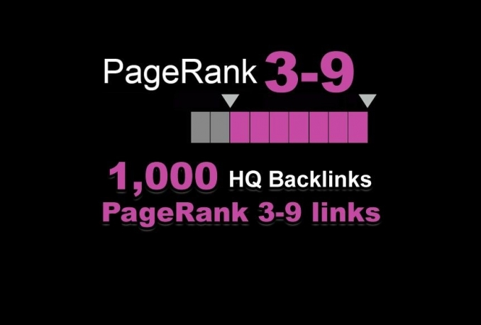 add PR9 to PR3 SEO package, 1000 backlinks