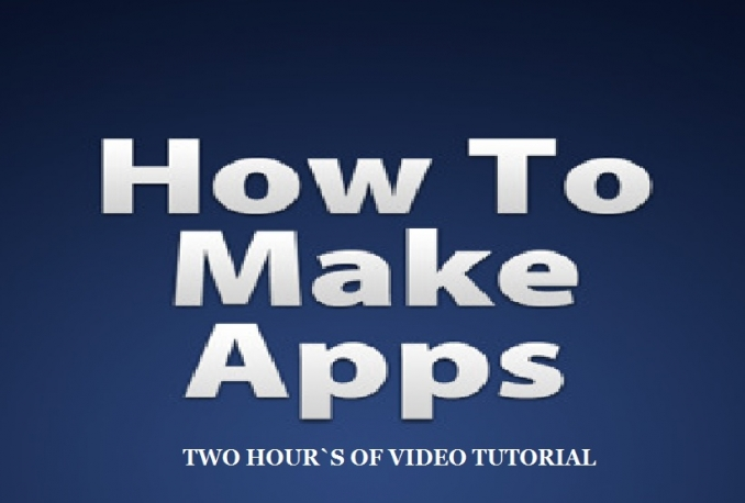 how you how to make five Android Apps in One Hour
