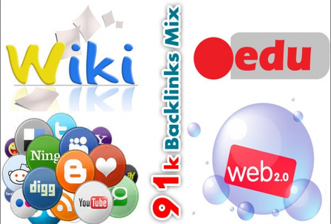 create 91,000 backlinks mix of wiki, social, edu and web 2.0