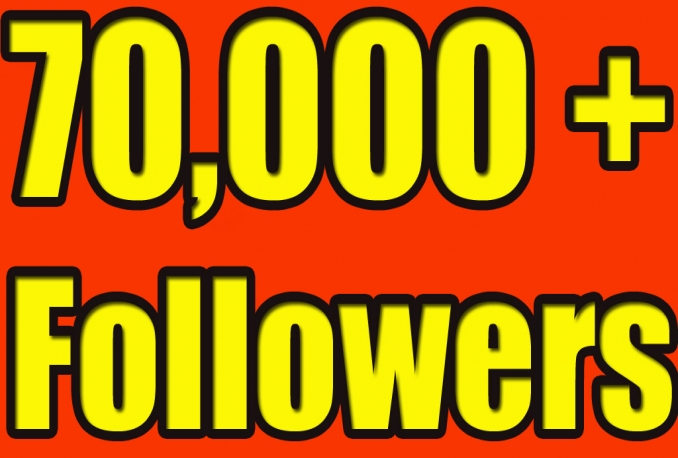 Gives you 70,000 Twitter Real Followers.