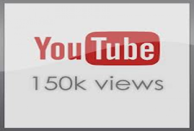 Provide you 150,000 High Quality youtube Views 100% safely.