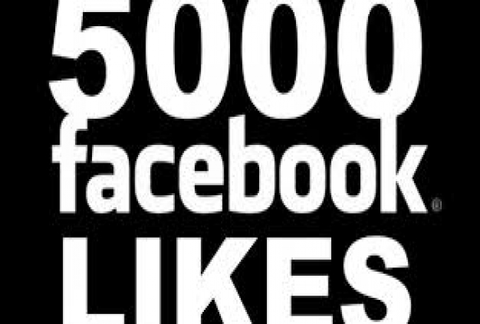 Provide You instantly 5,000+ Real/Human/Unique/Active Fb Likes For Your page 100% Safely.
