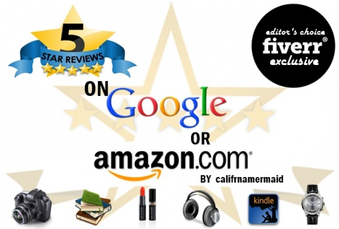 post permanent 5 star reviews, Amazon AND google in 24 hours