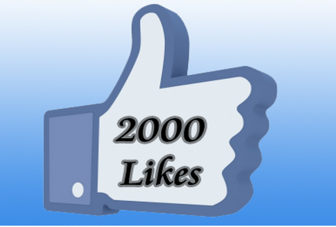 give you ★★2000 facebook page likes★★ within 24 hours