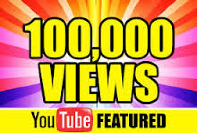 Provide you 100,000+ High Quality youtube Views 100% safely.