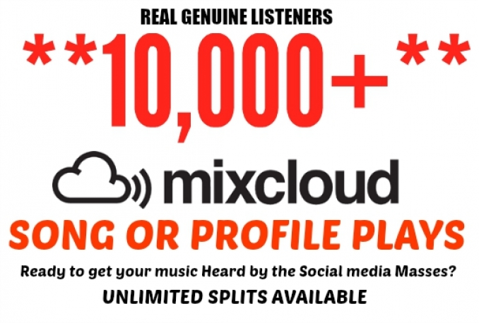 drive 10,000 Mixcloud Plays To Song or Profile