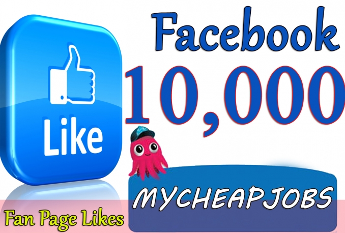 Give you 10,000+Instantly started Active Facebook Fan Page likes