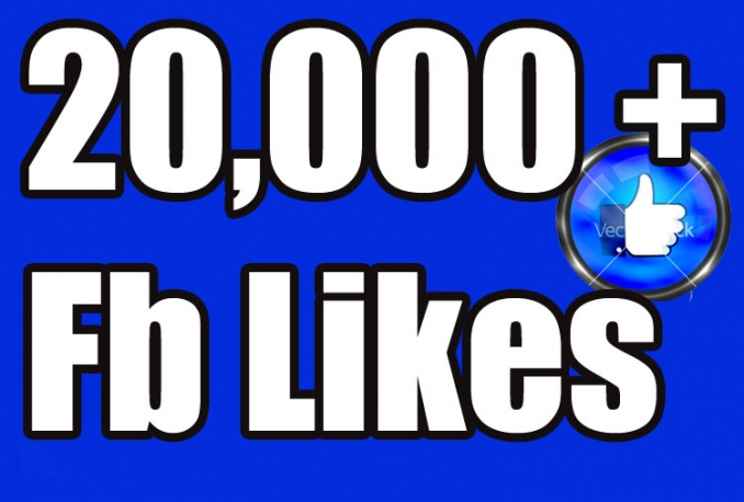 Give you 20,000+Instantly started Active Facebook Fan Page likes