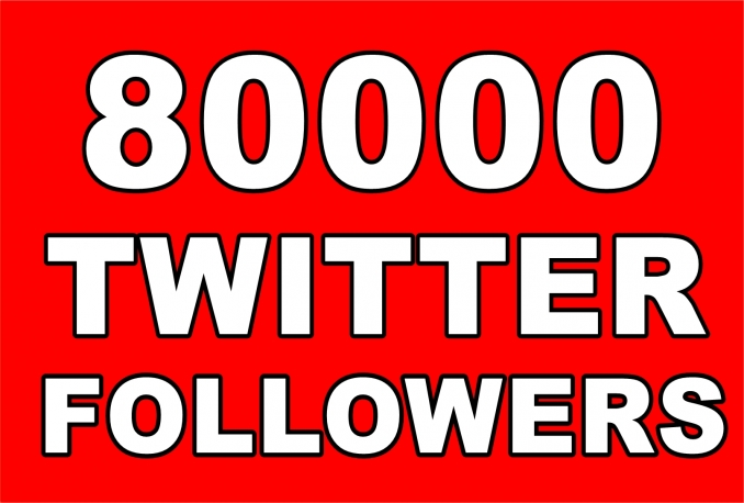 Twitter 80,000+Stable/NON Drop/Fast Followers.