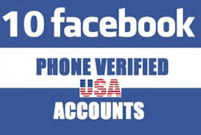 Create 10 USA Phone Verify Facebook for you