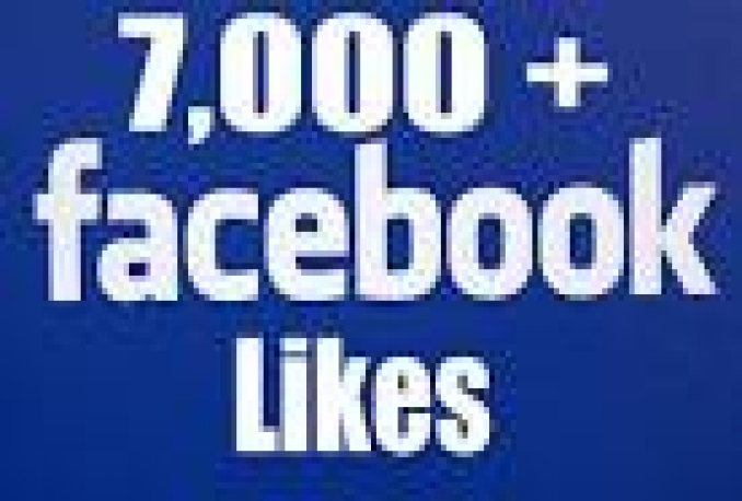 Provide You instantly 7,000+ Real/Human/Unique/Active Fb Likes For Your page 100% Safely.